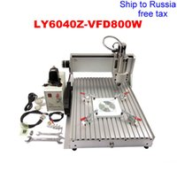 Wholesale LY CNC Z VFD800W axis all assembled CNC router KW VFD water cooling spindle to Russia free tax