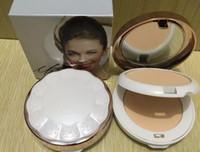 Nueva marca de maquillaje de base de doble capa de maquillaje facial en polvo Cosméticos de secado en húmedo poros de tapa corrector de cara presionado BB polvo