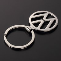 audi rings emblem - Car Styling New Metal Car logo Keychain Hollow out Emblem Keyring For Mercedes Volkswagen VW H OPEL Audi key chain ring Key Holder