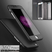 acrylic card case - 360 degree For iPhone7 plus S S SE Case Tempepred glass Hybrid Acrylic Full Body Cover For Samsung S7 S6 edge