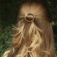 Pinces à cheveux ronds France-Simple Geometric Round Circle Hairpins Long Pin Cheveux Stick pour Femmes Accessoires HG346