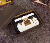 Satchel Women Two-tone Hot Selling Wholesale Designer Box Original Luxury Handbags Evening Bags Leather Fashion Box Clutch Brick Famous Messenger Shoulder Bag