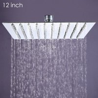 Wholesale 12 inch Ultra thin Square Stainless Steel Rainfall Shower Head Top Shower