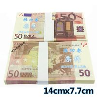 Wholesale 100Pcs Euro Paper Money Notes Training Collect Learning Banknotes