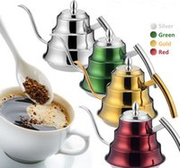 Wholesale 201 Stainless Steel Pour Over Kettle L Coffee Drip Pot Dripping Tea Pot Kitchen Tools