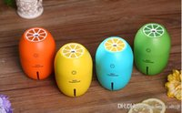 Wholesale Lemon Creative Ultrasonic Humidifier Essential Oil Diffuser Aroma With Light Aromatherapy Electric Aroma Diffuser Mist Maker