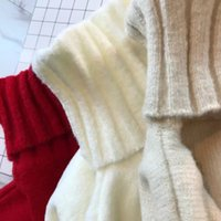 Wholesale Pure mountain cashmere turtleneck female hedge brief paragraph loose more languid is lazy sweater knitting coat