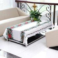 Wholesale Christmas Table Cloth Cotton Tableware Mat Table Runner Tablecloth Desk Cover Bowl Heat Insulation
