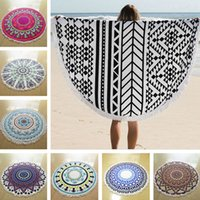 Wholesale round beach towel cm Bohemian style printing towel Bath towels Outdoor Throw blanket round beach towel Blankets