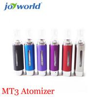 Venta al por mayor- cigarrillo electrónico de precio más bajo irrompible atomizador de ego cigarrillo MT3 atomizador cabido EVOD batería y batería de ego YY