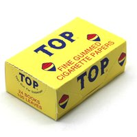 Cheap Top Fine Gummed Cigarette Rolling Papers 24 Books box 100 Leaves book 72*40mm Handroll Papers Wholesale Tobacco Rollng Papers