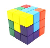 Wholesale Natural Wood Classic x6x6 D Tetris Cube Puzzle Brain Trainning Game Education Toys New Brand Popular