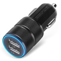 USB iPhone 5 DC24V NEW 2.1A 24W 2-Port Smart USB Quick Charge Car Charger For Smart Phone GPS Charging Tools USB Powered free shipping wholesale