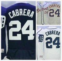 Wholesale Mens Miguel Cabrera Jersey Elite Detroit Baseball Jerseys Full Stitched Logo Throwback Blue Grey White Size S XL