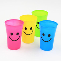 Wholesale Simple candy mixed color smile print wash gargle cup creative travel drinking cup tooth brush cup Toothbrush Holders