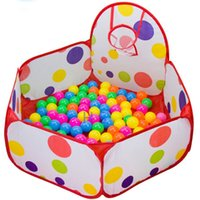 ball pit house - New Children Kids Ocean Ball Pit Pool Game Play Tent with Basketball Hoop Outdoor Indoor Garden Play House Children Tent Hot