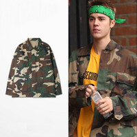 big camo clothing - Justin Bieber Clothes Camouflage Coat Purpose Tour Cargo Camo Shirt Oversize With Big Pocket Autumn Collection For Man Woman
