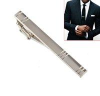 Wholesale Formal Men s Alloy Metal Fashion Silver Simple Necktie Tie Pin Tie Bar Tie Clip
