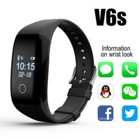 Wholesale V6s Smart Bracelet Bluetooth Smart Wristband IP67 Waterproof Gesture Control Sleep Monitor Bluetooth Smartband For Iphone IOS Android
