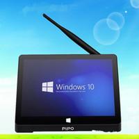 Wholesale In Stock PIPO X9 Mini PC Windows10 Android4 Dual Boot inch Tablet Mini PC Intel Z3736F Quad CoreMini Computer BT4 HDMI