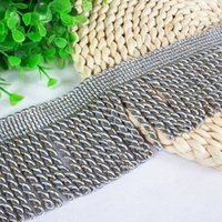 Wholesale Hot Selling Tassel Fringe Lace Trim Ribbon Sewing Curtain DIY Accessories Home Textiles Decor Products CM Width YR0109