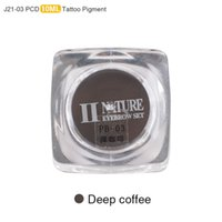 Wholesale PCD Permanent Makeup Ink Eyebrow Tattoo Ink Set Lip Microblading Pigment Professional Encre A Levre ML J21 Deep Coffee