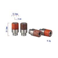 DHL gratuitement! Demi d'acier inoxydable Half Wood Drip Tips plus chaud 510 embout goutte à goutte pour e cigs 510 réservoirs en stock