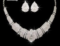Wholesale Brand new Fashion Jewelry Crystal Necklace Earring Set For Women Wedding accessories Jewelry sets