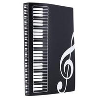 Hoja de música Papel de archivo Documentos Almacenamiento Portacarpeta Plástico Tamaño A4 40 Bolsillos-Negro
