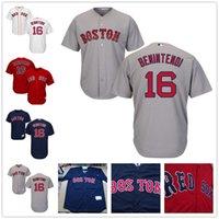 al por mayor xl red sox-Jersey de Boston Red Sox 16 Andrew Benintendi Jerseys Flexbase Base fresca de la casa casera Tamaño ausente S, 4XL, 5XL