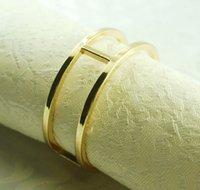 Wholesale round gold metal napkin ring napkin holder for wedding