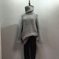 big knitting needles - 2016 Korean winter New Retro sweater needle loose turtleneck thickened sleeve big knitting dress for three colors