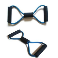 Resistance Bands   New Arrive Resistance Training Bands Tube Workout Exercise for Yoga 8 Type Fashion Body Building Fitness Equipment Tool