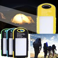 Wholesale LED Lamp External Dual USB Solar Power Bank Portable Battery Charger Backup
