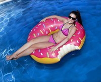 Wholesale Giant Inflatable Donut Pool Float Water toys PVC Swimming Ring pool floats for adults Kids flotadores para piscina cm cm