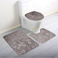 Wholesale Pack Soft Coral Fleece Bath Mat Pedestal Mat Toilet Washable Floor Rugs Carpets Set Home Bathroom Door Floor Mat Pad