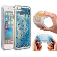 achat en gros de rhinestone case-Pour iPhone 7 Quicksand Case Etui en strass pour LG Aristo V3 Etui LG Transparent lv5 Glitter Étui transparent 50Pcs avec OPP Package