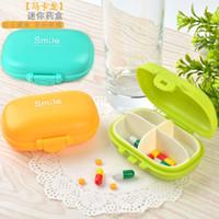 Wholesale Creative travel portable kit Makalong portable four cell mini box capsule candy storage box pp mini plastic kit