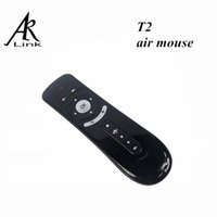 air video pc - Gyroscope Mini Fly Air Mouse T2 G Wireless Keyboard D Sense Motion Stick For PC Android TV Box Media Player iptv laptop