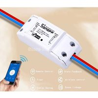 Wholesale sonoff dc220v Remote Control Wifi Switch Smart Home automation Intelligent WiFi Center for APP Smart Home Controls A W