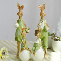 american prop - piece American Village Easter Bunny Large Decoration Decoration Resin Crafts Shoot Props D1213