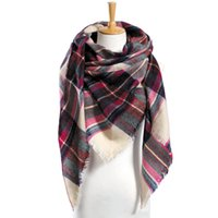 basic acrylic - 19 colors Top quality za Winter Scarf Plaid Scarf Designer Unisex Acrylic Basic Shawls Women s Scarves hot sale VS051