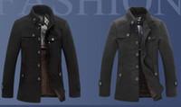 Wholesale Classical winter jacket men windproof men woolen jacket men warm woolen coat factory brand winter jacket rench