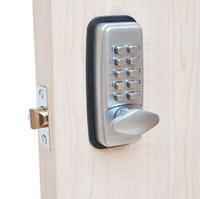 achat en gros de serrure de porte de zinc-ML01SP Mécanique Serrure de porte de mot de passe, serrure de code, serrure de combinaison, alliage de zinc, argenté