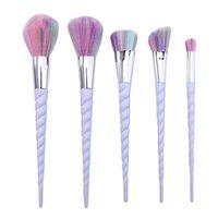 Wholesale Makeup Brushes Unicorn Spiral Set Colorful Brushes Professional Brushes Set Plastic Unicorn Spiral Brush Good Quality Factory Price