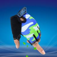 LongKeeper Gants de sport pour les enfants Mitaines Mitaines Enfants Sky Pattern garçons gants sans doigts pour 5-13 ans Kid G109