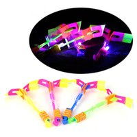 Wholesale Novelty Children Toys Amazing LED Flying Arrow Helicopter for Sports Funny Slingshot birthday party supplies Kids Gift DHL