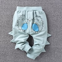 Wholesale Hot Sell Cartoon Baby Pants Boys Hedgehog PP Pant Pure Cotton Long Casual Lovely Harem Pants For Kid Boy Children Clothing Blue A6382