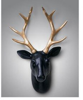 bamboo wall hangings - high grade European Nordic animal mural wall decoration background wall ornaments pendant deer head hanging tau solid resin
