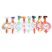 Wholesale Kids Birthday Party Favors Decoration Supplies Noicemaker Small Multi Color Party Blowouts Whistles